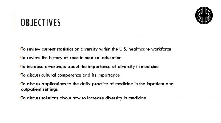 Diversity Lecture Objectives WCBDR